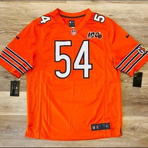 Nike Chicago Bears Brian Urlacher 100th Jersey